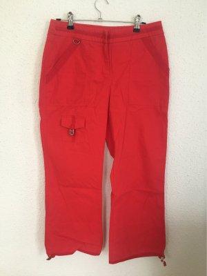 Pantalon en lin rouge