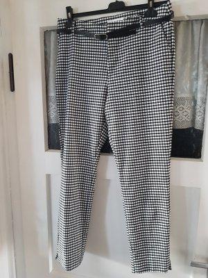 Amisu 7/8 Length Trousers white-black