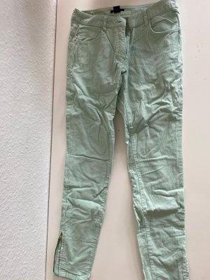H&M Divided Pantalon en velours côtelé vert menthe