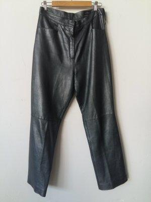 Pantalón de cuero gris oscuro Cuero