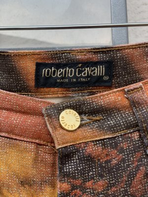 CLASS Roberto Cavalli Peg Top Trousers brown cotton
