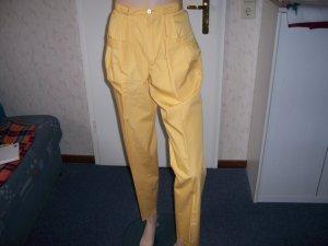Pantalon en lin jaune