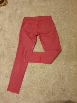 Benetton Lniane spodnie Wielokolorowy
