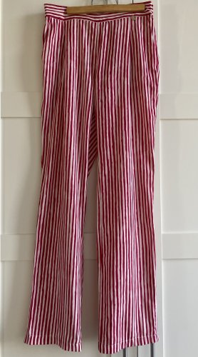 Liu jo Low-Rise Trousers white-raspberry-red polyester