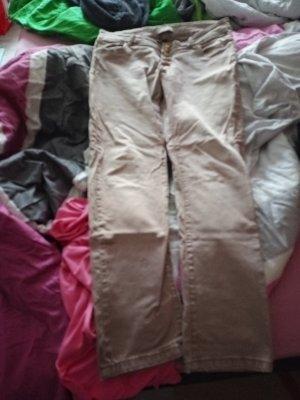 Lniane spodnie beżowy