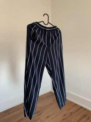 H&M Pantalon chinos blanc-bleu foncé
