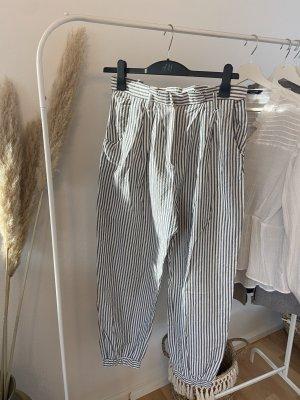 Zara Pantalone palazzo bianco-azzurro
