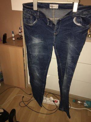 Kik Pantalón de tubo azul oscuro