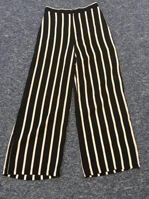 SheIn Pantalone Marlene nero-bianco