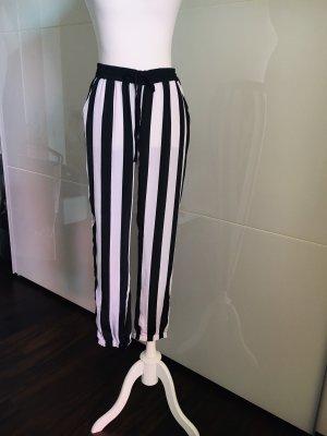 Pantalón boyfriend negro-blanco