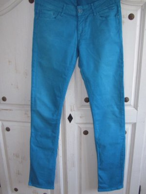 CROSS JEANS Five-Pocket Trousers neon blue cotton