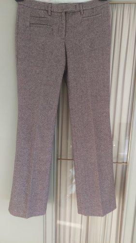 H&M Pantalone di lana marrone-grigio-bianco sporco