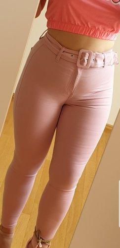 ohne Etikett Spodnie dresowe w kolorze różowego złota