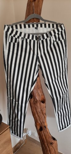 Pimkie Stretch Trousers white-black