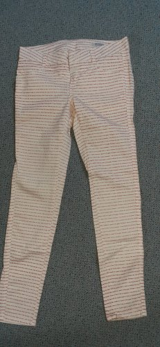 Closed Peg Top Trousers red-cream cotton