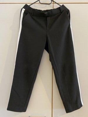 Zara Pantalon 7/8 noir-blanc