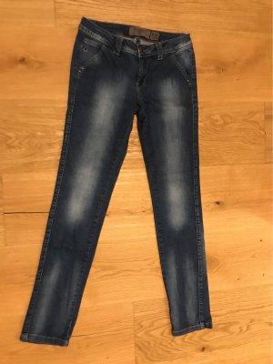 Vero Moda Low-Rise Trousers blue