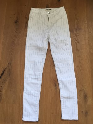 Tally Weijl Drainpipe Trousers natural white