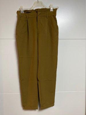 Terranova Spodnie garniturowe brąz-brązowy