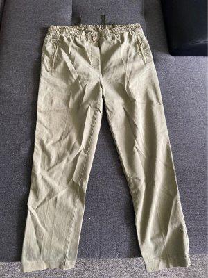 Pantalone largo grigio-verde