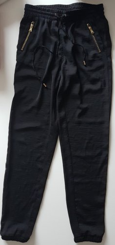 H&M Divided Pantalone elasticizzato nero-sabbia Poliestere