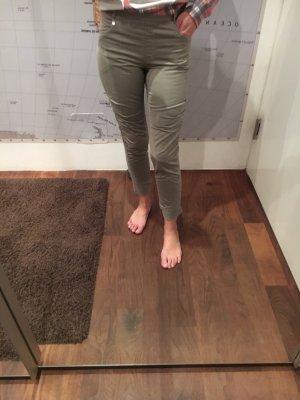 Anna Rita N Pantalon fuselé kaki-gris vert