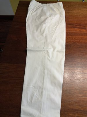Piazza Sempione 7/8 Length Trousers white cotton