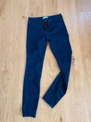 Abercrombie & Fitch Tube jeans blauw Gemengd weefsel