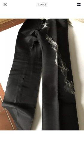 Alexander McQueen Marlene Trousers black-light grey silk