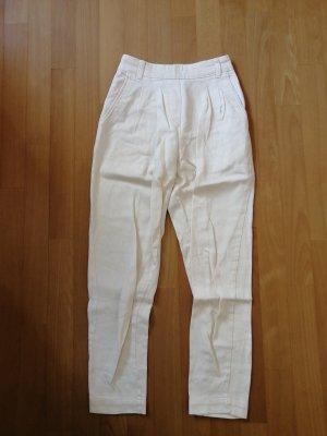 Amazone Pantalón tipo suéter blanco puro-crema