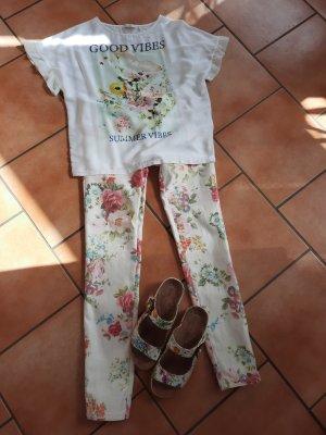 Ann Christine Jersey Pants white