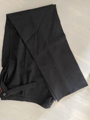 St. emile Pantalone a pieghe nero Cotone