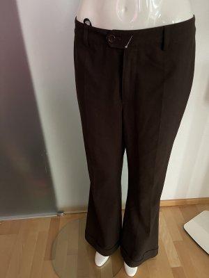 Oui pantalón de cintura baja marrón-negro