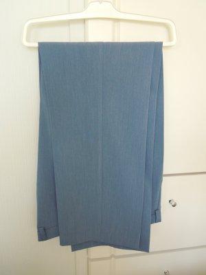 Atelier Goldener Schnitt Spodnie materiałowe błękitny Wiskoza