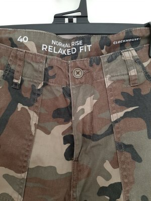 C&A Spodnie khaki Wielokolorowy Bawełna