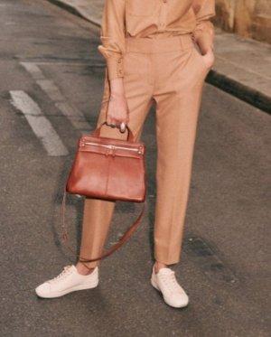 Uterqüe Pantalone a pieghe beige