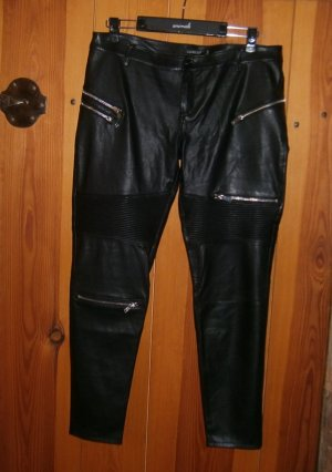 Laura Jo Leather Trousers black polyurethane