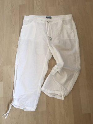 Hose aus Leinen 7/8 oder 3/4  Länge weiß
