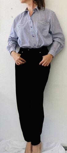 Hose aus schönem schwarzen Samt von Zapa mit Strass-Steinen