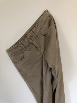 American Eagle Outfitters Jersey Pants sand brown cotton
