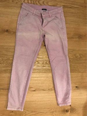 Yessica Pantalon taille basse rose-blanc