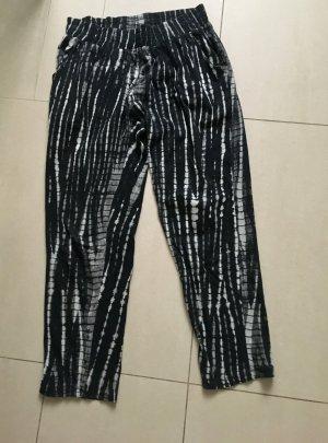 Jersey Pants black-white cotton
