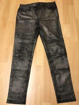 Pantalon taille basse doré