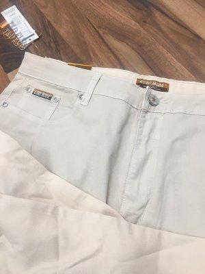 Pantalon boyfriend beige clair-crème