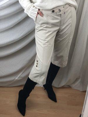 Pantalon 3/4 blanc cassé-crème