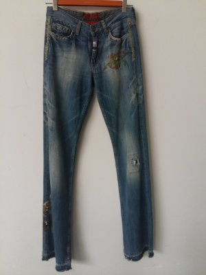 Hilfiger Stretch jeans leigrijs Katoen