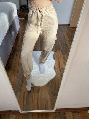 Zara Pantalon cargo beige-crème