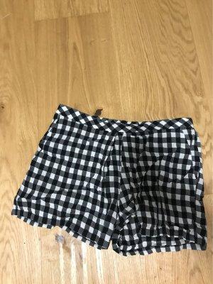 Mango Spodnie Capri czarny-biały