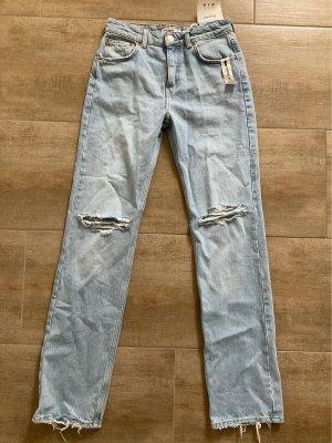 Pull & Bear Pantalone a vita bassa azzurro