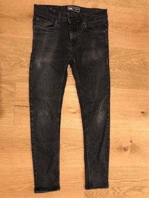 FSBN Pantalon taille basse argenté-noir
